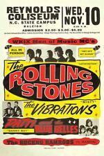 Vintage Concert POSTER  Rare   ROLLING STONES   Raleigh NC  North Carolina 16x20