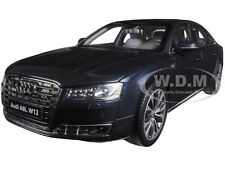 2014 AUDI A8 L W12 MOON SHINE BLUE 1/18 DIECAST MODEL CAR BY KYOSHO 09232 MSB