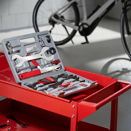 Boîte de Réparation pour Vélo 50 Pièces Outils Bicyclette Bike MTB VTT Coffret