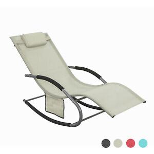 Détails sur SoBuy® Fauteuil à bascule Chaise Transat de jardin Rocking  Chair, OGS28-MI FR