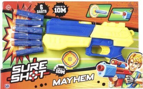 Sure Shot Kids Boys Children Mayhem Target Toy Set Pump Foam Blaster Dart Strike