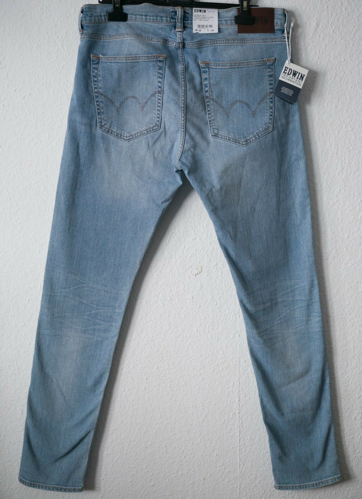 3e9035adbe549 EDWIN Jeans ED-85 Slim Tapered Low credch light trip used 11 oz blue Gr.  DSQUARED Solid bluee Denim Cotton Mens ...