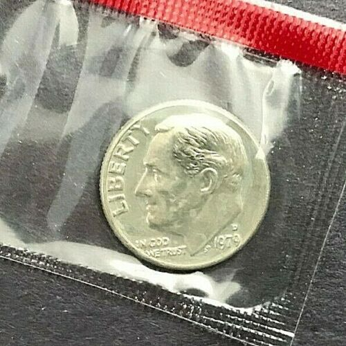 1979 P D S Roosevelt Dime In Mint Cello TYPE 2 PROOF