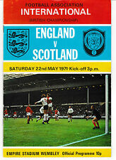 1971 Soccer International -England vs. Scotland - Ticket, Program & Song Sheet