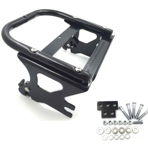 BLACK DETACHABLE TWO UP TOUR PAK MOUNTING LUGGAGE RACK FOR HARLEY FLHT FLHX