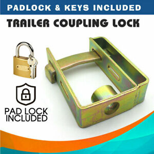 Heavy-Duty-Trailer-Caravan-Coupling-Hitch-Lock-Padlock-2-Stage-Locker-w-Keys