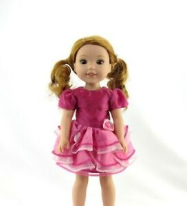 Pink-Layered-Dress-Fits-Wellie-Wishers-14-5-034-American-Girl-Clothes