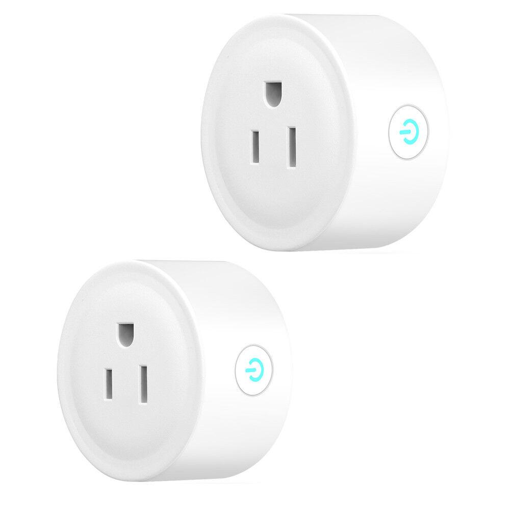 2x Smart Socket Mini WiFi US Plug Switch work w Echo Al