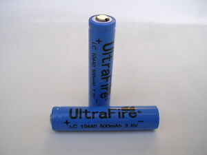 2x ultrafire 10440 lithium ionen akku gr sse wie aaa micro mit 3 6 volt ebay. Black Bedroom Furniture Sets. Home Design Ideas