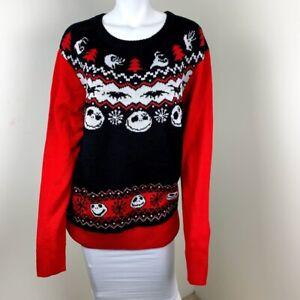 Tim Burton Christmas Jumper.Details About Tim Burton Nightmare Before Christmas Jack Skellington Disney Ugly Sweater Xl