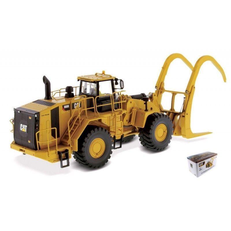 Dm 1 50 Caterpillar Cat 988K Cargador de rueda con registro Grapa Diecast Modelo 85917