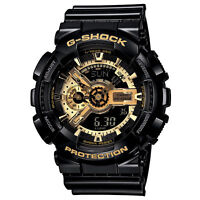 G-shock Mens Black & Gold Watch. Bestseller. Ga110gb-1a