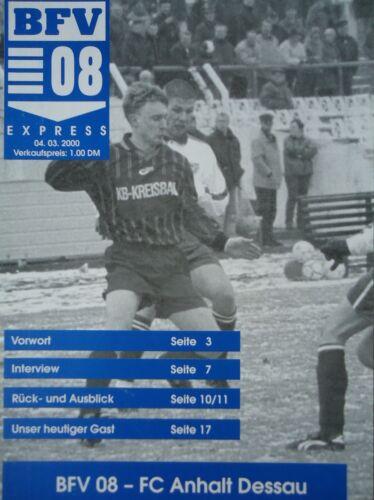Programm 1999//00 Bischofswerdaer FV 08 Anhalt Dessau