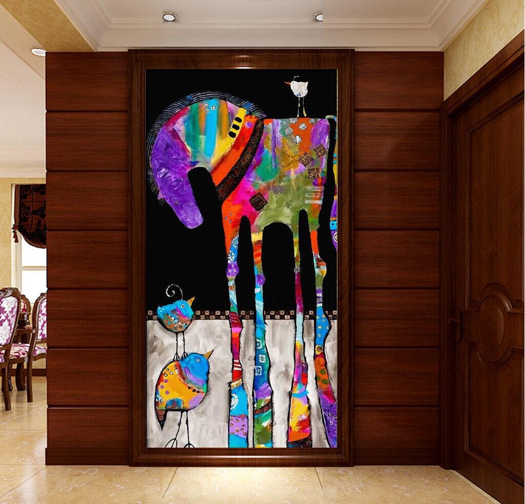 3D ColGoldt Horse I305 Wallpaper Mural Sefl-adhesive Removable Sticker Kid Wendy