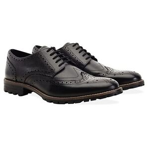 Redfoot Leather Black Edenfield Brogue Gents Lace Up Shoes 12 free shipping 0234