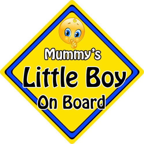 Non Personalised Child//Baby On Board Emoji Car Sign ~ Mummy/'s Little Boy