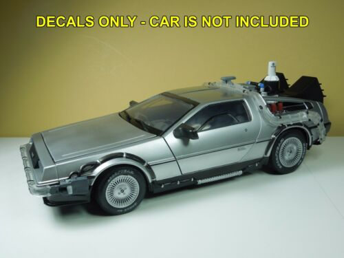 1//15 Custom Waterslide Decals for Diamond Select Back to the Future Delorean