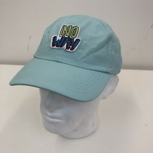 07a3483de Details about Topman Mens Light Blue No Way Logo Peaked Summer Baseball Cap  Hat One Size