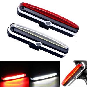 LED-Lumiere-Lampe-de-Velo-Bicyclette-VTT-Eclairage-Feu-Arriere-USB-Chargeur