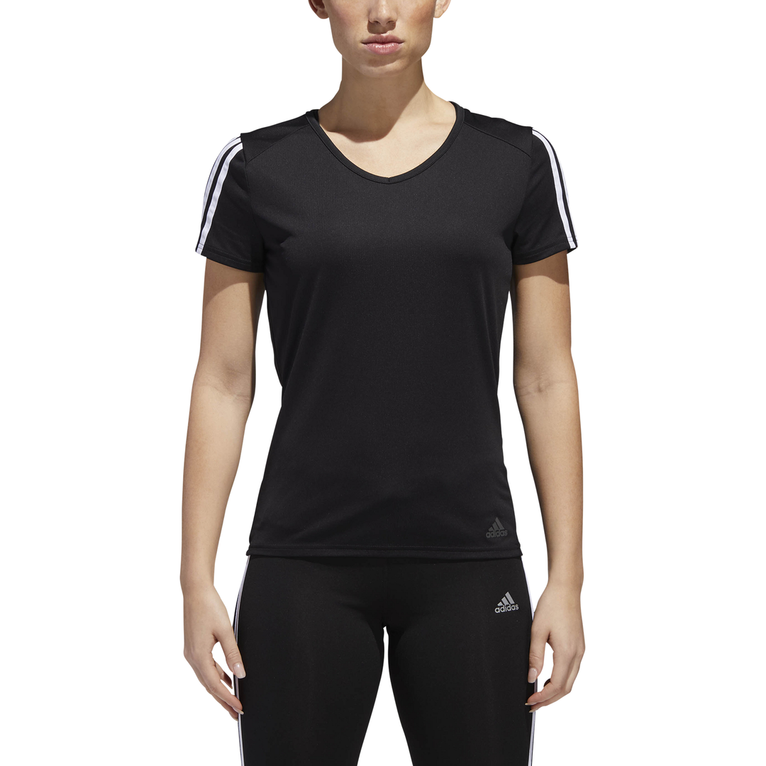 Adidas Women Tshirt Sport Style Tee Essentials 3 Stripes