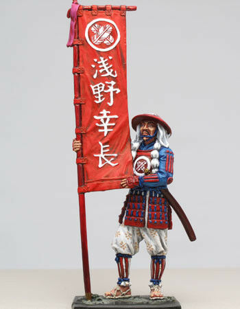 Tin 54mm Toy Soldier Ashigaru with Standard