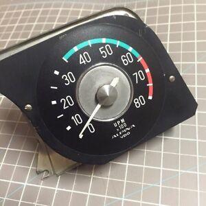BMW-2002-ALPINA-Tachometer-Overlay-Silver-Dollar-1600-2002tii-tii-2002ti-ti