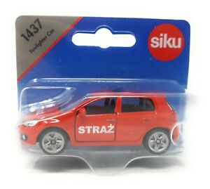 Siku-metal-Edition-Polonia-1437-VW-GOLF-VI-bomberos-straz-extranjero-modelo