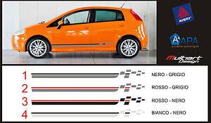 Details about FASCE ADESIVE PER AUTO STICKERS FIAT GRANDE PUNTO STRISCE on