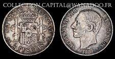 Spagna 2 Pesetas 1882M (Madrid) (18-82) Argento 9.90gr