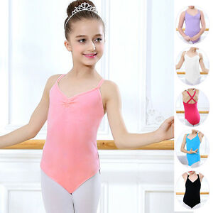 4e13ed33e Kids Child Girl Dance Leotard Stretch Bodysuit Ballet Training Dress ...