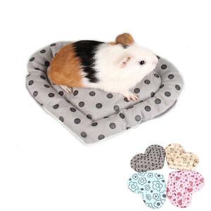 Forma-de-corazon-cama-calida-conejo-cobaya-jaula-Accesorios-Peluche-Hamster-Mat