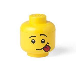LEGO Klein Aufbewahrung Kopf Witzig Gesicht Für Ziegel Spielzeug Kinder
