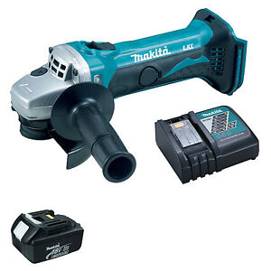 MAKITA-18V-LXT-DGA452-DGA452Z-ANGLE-GRINDER-BL1830-BATTERY-AND-DC18RC-CHARGER
