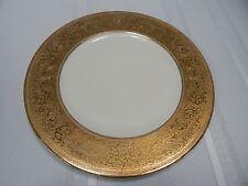 Vintage! Superior 18K Gold Inlay China Porcelain Dinner Plate