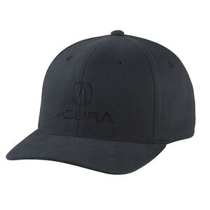 b30a560a Acura Flex-Fit Brushed Twill Hat - All Black - Large/XLarge | eBay