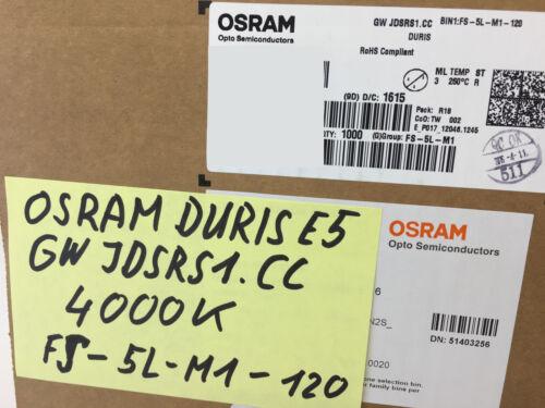 500 pièces//500 pc Osram Duris ® e5 DEL 4000k cri95 GW jdsrs 1.cc 0.5 W 5630 5730