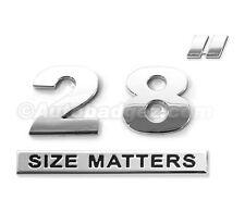 "2 - NEW chrome 28"" INCH SIZE MATTERS wheel rim size badges emblems DUB (28"" SM)"