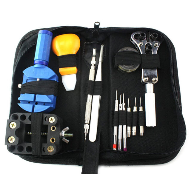 Mini Pro Nylon Material Watch Repair Portable Tool Bag with Zipper Storage Black