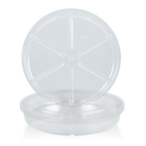 Oakbay-10Pack-of-4-8-10-12inch-Clear-Plastic-Plant-Saucers-Flower-Pot-Drip-Trays