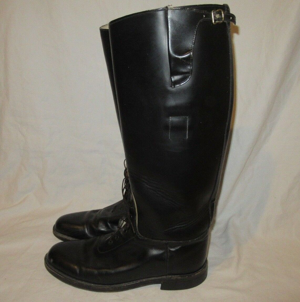 Vintage Equestrian Riding Boots Black Womens  Size 8.5  Leather Sole made in USA