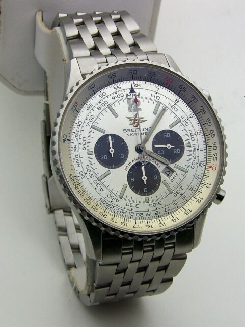 Breitling Navitimer 50th Anniversary 41mm Steel Mens Automatic Watch A41322