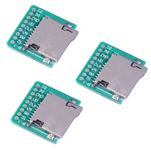 3Pcs-Micro-SD-Card-TF-Card-Breakout-Transfer-Board-Pinboard-Module-Converter