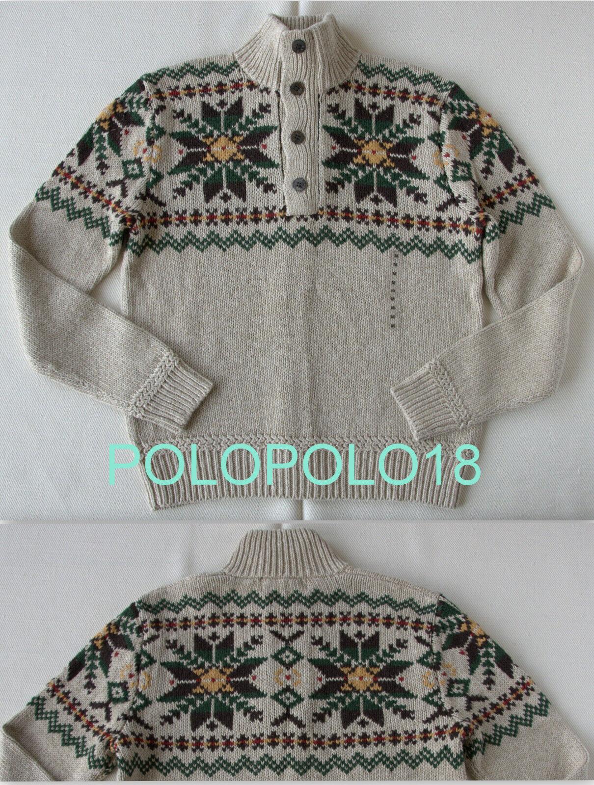 New 195 Polo Ralph Lauren Cotton Linen Silk Sweater M L XL 2XL