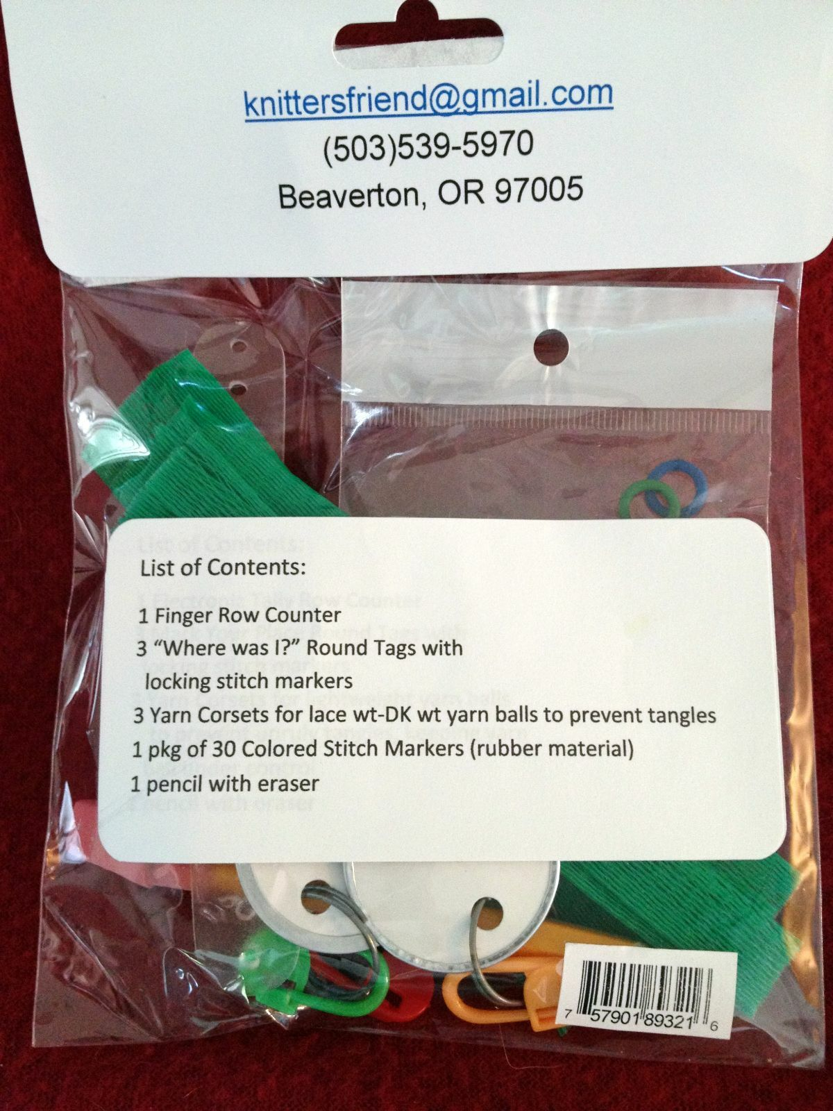 The Knitter/'s Helper Kit with Row Counter Yarn Corsets Stitch Markers
