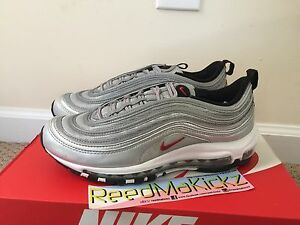 Image is loading Nike-Air-Max-97-QS-Metallic-Silver-Bullet-