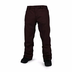 2017-NWT-MENS-VOLCOM-FREAKIN-SNOW-CHINO-SNOWBOARD-PANTS-L-dark-burgundy