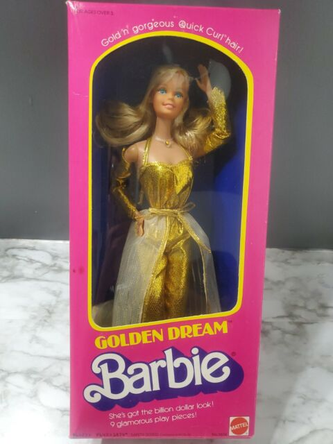 Vintage 1980 GOLDEN DREAM BARBIE #1874 * Superstar Era