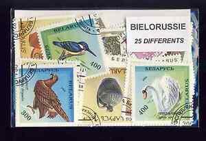 BIELORUSSIE-BELARUS-collections-de-25-et-50-timbres-differents