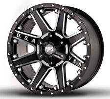 4-NEW RDR RD04 USA 17x9 6x135/6x139.7 -12mm Black/Machined Wheels Rims