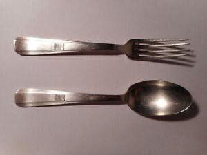 Couvert-cuillere-fourchette-metal-argente-art-deco-orfevre-Ravinet-d-039-Enfer
